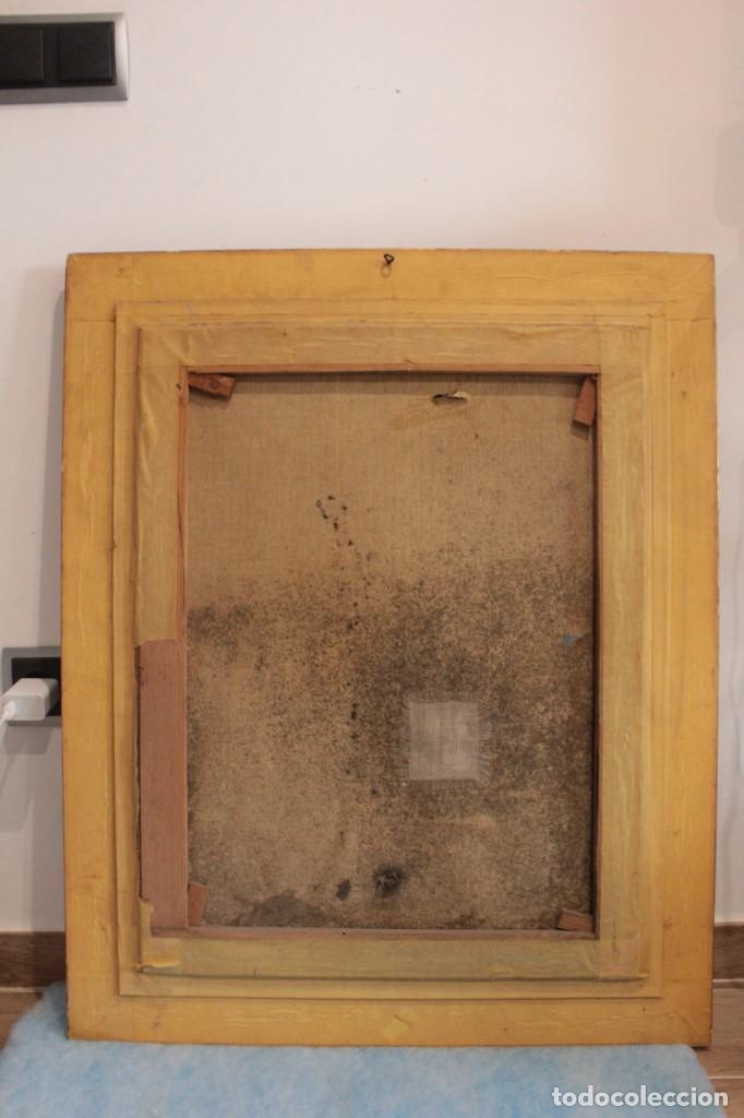 Arte: Escuela expresionista, mediados s.XX. Grosor capa de pintura, desconozco firma 81x66 con marco - Foto 9 - 289475093