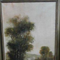 Arte: JOURDAIN PAISAJE OLEO 100 X 49 COD 9118. Lote 289479323