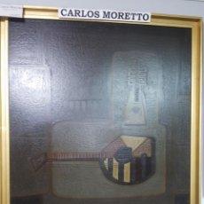 Arte: OLEO CARLOS MORETTO INSTRUMENTOS MUSICALES 76 X 95 COD 30073. Lote 289479648