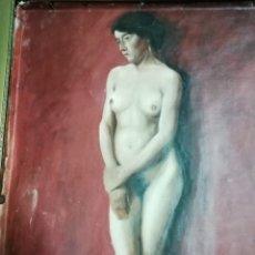 Arte: DESNUDO FEMENINO, 69X47 ÓLEO SOBRE LIENZO, PINTADO A DOBLE CARA. GRAN CALIDAD, OBRA DE MAESTRO. Lote 289574858