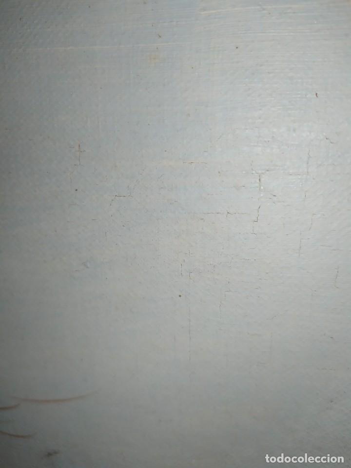 Arte: OLEO LIENZO FIRMA ILEGIBLE PAISAJE CIERVO MONTAÑA RESTAURAR ABOMBADO VINTAGE AGRADECE INFORMACIÓN - Foto 5 - 289612273