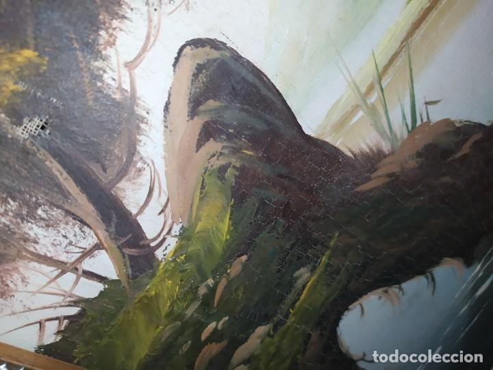 Arte: OLEO LIENZO FIRMA ILEGIBLE PAISAJE CIERVO MONTAÑA RESTAURAR ABOMBADO VINTAGE AGRADECE INFORMACIÓN - Foto 14 - 289612273