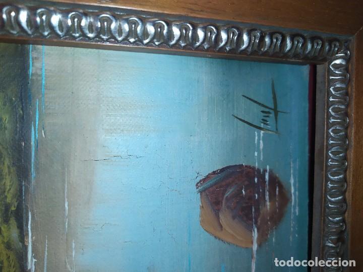 Arte: OLEO LIENZO FIRMA ILEGIBLE PAISAJE CIERVO MONTAÑA RESTAURAR ABOMBADO VINTAGE AGRADECE INFORMACIÓN - Foto 15 - 289612273
