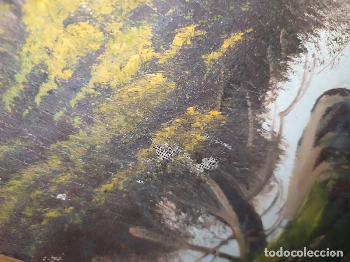 Arte: OLEO LIENZO FIRMA ILEGIBLE PAISAJE CIERVO MONTAÑA RESTAURAR ABOMBADO VINTAGE AGRADECE INFORMACIÓN - Foto 16 - 289612273