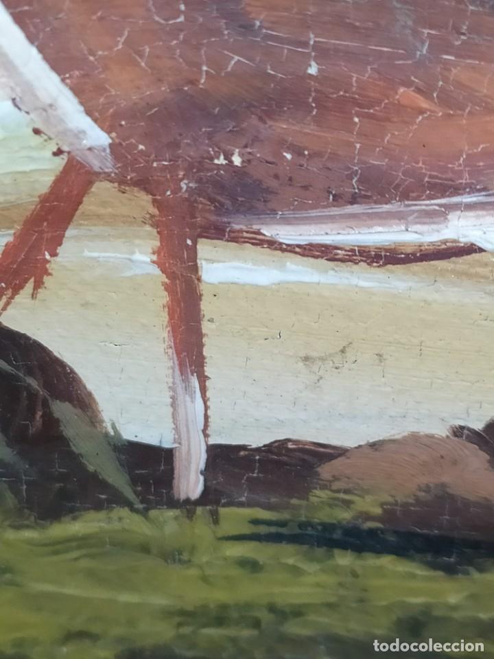 Arte: OLEO LIENZO FIRMA ILEGIBLE PAISAJE CIERVO MONTAÑA RESTAURAR ABOMBADO VINTAGE AGRADECE INFORMACIÓN - Foto 28 - 289612273