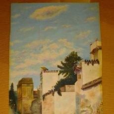 Arte: TRES OLEOS. PUEBLO-CAMPO-MAR. Lote 289744548