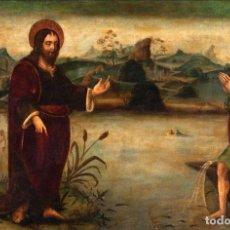 """Arte: LA """"APARICIÓN DE CRISTO A SAN PEDRO"""". ESCUELA EUROPEA DE LA PRIMERA PARTE DEL SIGLO XVI. TABLA. Lote 289758148"""
