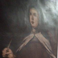 Arte: LIENZO SIGLO XVIII SANTA TERESA DE JESÚS. Lote 289786648