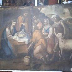 Arte: LIENZO SIGLO XVIII ADORACIÓN DEL NIÑO JESÚS. Lote 289795513