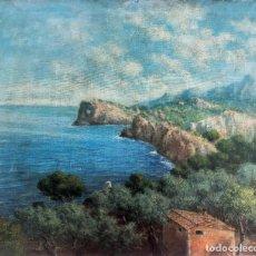 Arte: MIGUEL FORTEZA (1888-1969) - COSTA VALLDEMOSA MALLORCA - ÓLEO SOBRE LIENZO. Lote 290302178