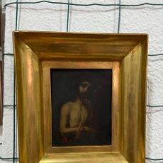 Arte: COBRE PINTADO A MANO IMAGEN CRISTO. Lote 290527468