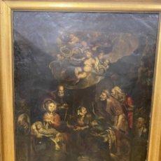 Arte: ADORACION DE LOS PASTORES. S.XVII OLEO SOBRE COBRE. Lote 290821738