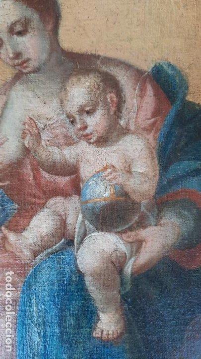 Arte: oleo sobre lienzo San Bernardo con la virgen siglo xvii,ref. museo diocesano Santillana del Mar - Foto 4 - 291155388