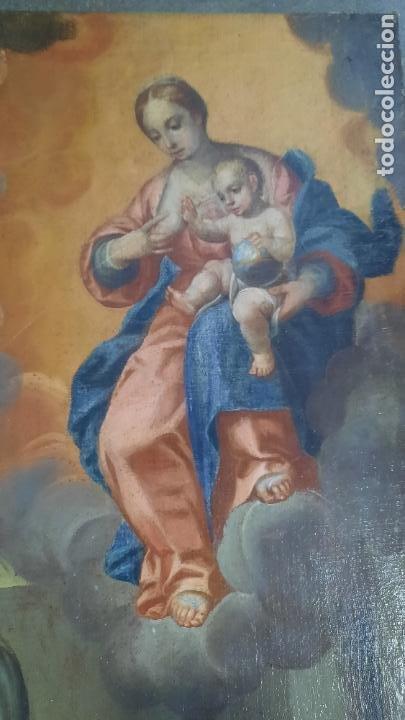 Arte: oleo sobre lienzo San Bernardo con la virgen siglo xvii,ref. museo diocesano Santillana del Mar - Foto 11 - 291155388