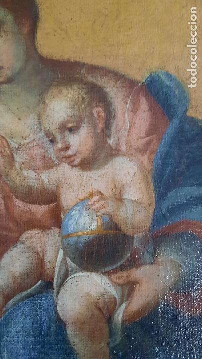 Arte: oleo sobre lienzo San Bernardo con la virgen siglo xvii,ref. museo diocesano Santillana del Mar - Foto 13 - 291155388