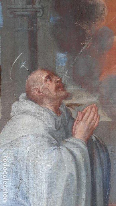 Arte: oleo sobre lienzo San Bernardo con la virgen siglo xvii,ref. museo diocesano Santillana del Mar - Foto 16 - 291155388