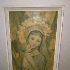 """Arte: ANTIGUO CUADRO SOBRE MADERA """"LA NANA DE LA VIRGEN"""", FIRMADO 59X34 CM ACEPTO OFERTAS. Lote 291940558"""