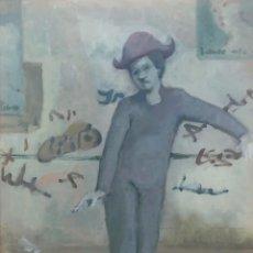Arte: LUIS PLA ESTERELLES (1947) - ARLEQUIN - ÓLEO TABLA. Lote 292123498