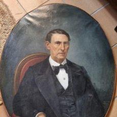 Arte: AUGUSTO MANUEL DE QUESADA Y VÁZQUEZ (1824-1891 ), ESCUELA SEVILLANA , RETRATO AL ÓLEO SOBRE LIENZO. Lote 292596593