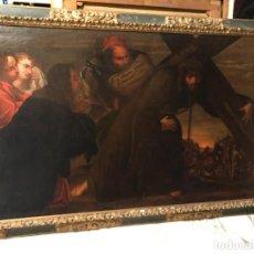 Arte: EXTRAORDINARIO JESUS CAMINO DEL CALVARIO, FIRMADO JOSE DE COBO Y GUZMAN, S. XVII. Lote 292598488