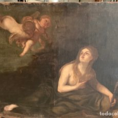 Arte: ESCUELA SEVILLA SIGLO XVIII - MARÍA MAGDALENA - OLEO SOBRE LIENZO. Lote 293308698