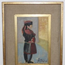 Arte: JORDI CURÓS VENTURA (1930-2017) - ÓLEO SOBRE TÁBLEX - SOLDADO 1969. Lote 293344328