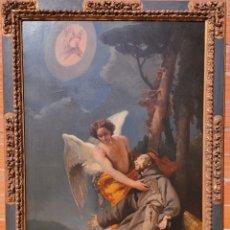 Arte: PINTURA ANTIGUA SAN FRANCISCO XVIII XIX ESCUELA ESPAÑOLA. Lote 293602538