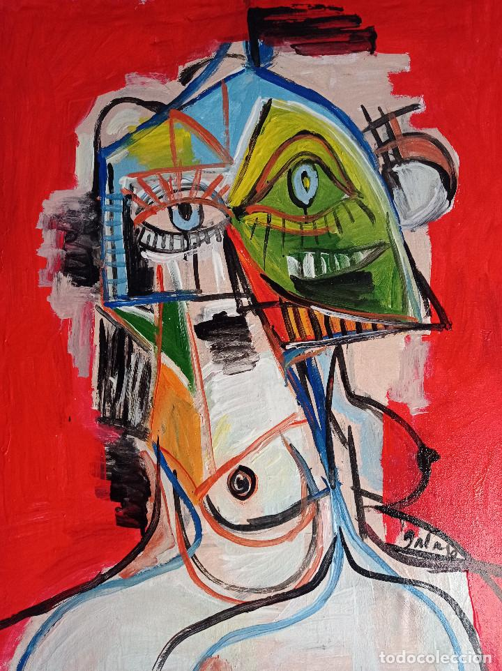 PERSONAJE CUBISTA ,PINTURA SOBRE TELA (Arte - Pintura - Pintura al Óleo Contemporánea )
