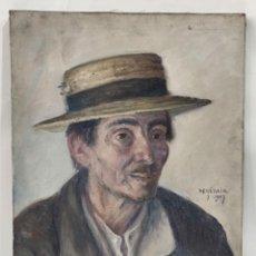 Arte: RETRATO PINTADO POR FRANÇOIS DE HERÁIN (1877 - 1962). Lote 293620538