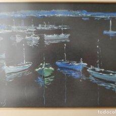 Arte: EMILI ALBERCH BASSÓ (MATARO, 1931-2014) - MARINA OLEO SOBRE TABLA FIRMADO. Lote 293881038