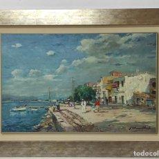 Arte: BONITA PINTURA AL ÓLEO SOBRE TELA - MARINA - MARSILLACH CODONY, JOAQUIM (OLOT 1905 - 1986). Lote 293886243