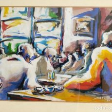 Arte: TONI ROVIRA GIRÓ (TIANA, BARCELONA 1956) TÉCNICA MIXTA SOBRE PAPEL FIRMADO EN 1988. Lote 293886853
