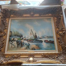 Arte: CUADRO LA SEINE A BERCY 1875,PAUL CEZANNE. Lote 293888583