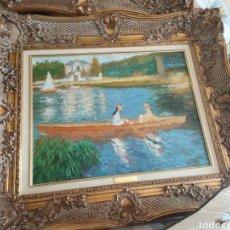 Arte: CUADRO LA SCINE A ASNIERES ,LA BARQUE 1879 PIERRE AUGUSTO RENOIR. Lote 293889218