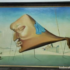 """Arte: COPIA DE CALIDAD SOBRE EL TEMA DE DALI """"EL SUENO"""". Lote 293936148"""