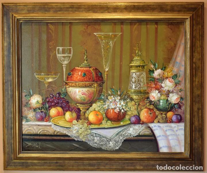 ROBERTO MICHEL - JAÉN 1.944 ÓLEO SOBRE LIENZO NATURALEZA MUERTA (Arte - Pintura - Pintura al Óleo Contemporánea )