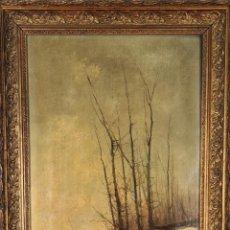Arte: PAISAJE RURAL. ÓLEO SOBRE LIENZO. FIRMADO OLIVER. 1894.. Lote 294571653