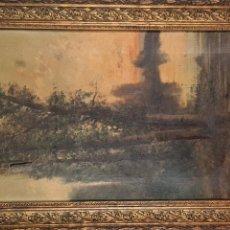 Arte: PAISAJE RURAL. ÓLEO SOBRE LIENZO. FIRMADO OLIVER. 1894.. Lote 294574423