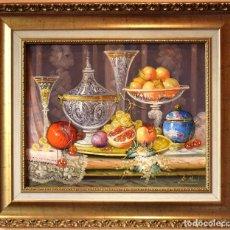 Arte: ROBERTO MICHEL - MANCHA REAL JAÉN 1.944 ÓLEO S/ LIENZO NATURALEZA MUERTA. Lote 294989123