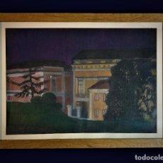 Arte: IMPRESIONANTE VISTA NOCTURNA DEL MUSEO DEL PRADO. Lote 295303928