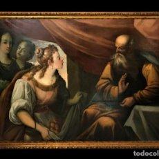 Arte: EXCEPCIONAL LOT Y SUS HIJAS, ESC. MANIERISTA ITALIANA, GRAN FORMATO. Lote 295333603