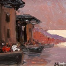 Arte: STEPHEN ROBERT KOEKKOEK (1887-1934) OLEO SOBRE TELA. VISTA COSTERA. Lote 295400738