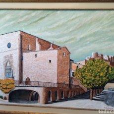 Arte: PINTURA AL OLEO IGLESIA SANT MIGUEL DE CARDONA. Lote 295408393