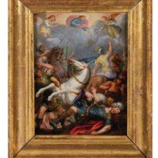Arte: ÓLEO COBRE CONVERSIÓN DE SAN PABLO ESCUELA FLAMENCA FINALES DEL SIGLO XVI. Lote 295413608