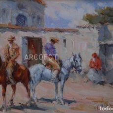 Arte: ANTIGUA PINTURA - ÓLEO - FIRMADO J.S. ILEGIBLE - ENMARCADO. Lote 295629278