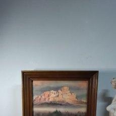 Arte: PRECIOSA PINTURA FERNANDO FERRI 1958 ,ACUARELA PAISAJE RUINAS GRIEGAS TOUR EUROPEO. Lote 295726083