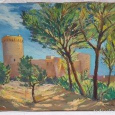 Arte: PAISAJE CON TORREON ,FIRMADO S. CAÑELLAS. Lote 295789318
