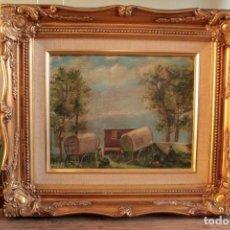 Arte: OLEO SOBRE TABLA, ESCUELA VALENCIANA, FIRMADO. ENMARCADO 38X33CM. Lote 295995748