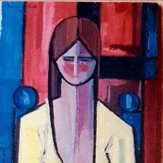 Arte: HERMINIO SENTIS. MEDITATIVE CUBISM. 1972. Lote 296016868