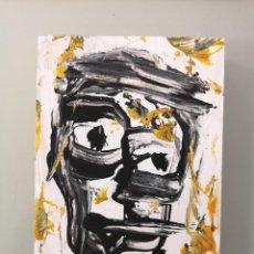 Arte: OBRA DE ARTE ORIGINAL STEVEN MANLEY ACRÍLICO SOBRE MADERA PEQUEÑO FORMATO RETRATO NEOEXPRESIONISMO. Lote 296612243